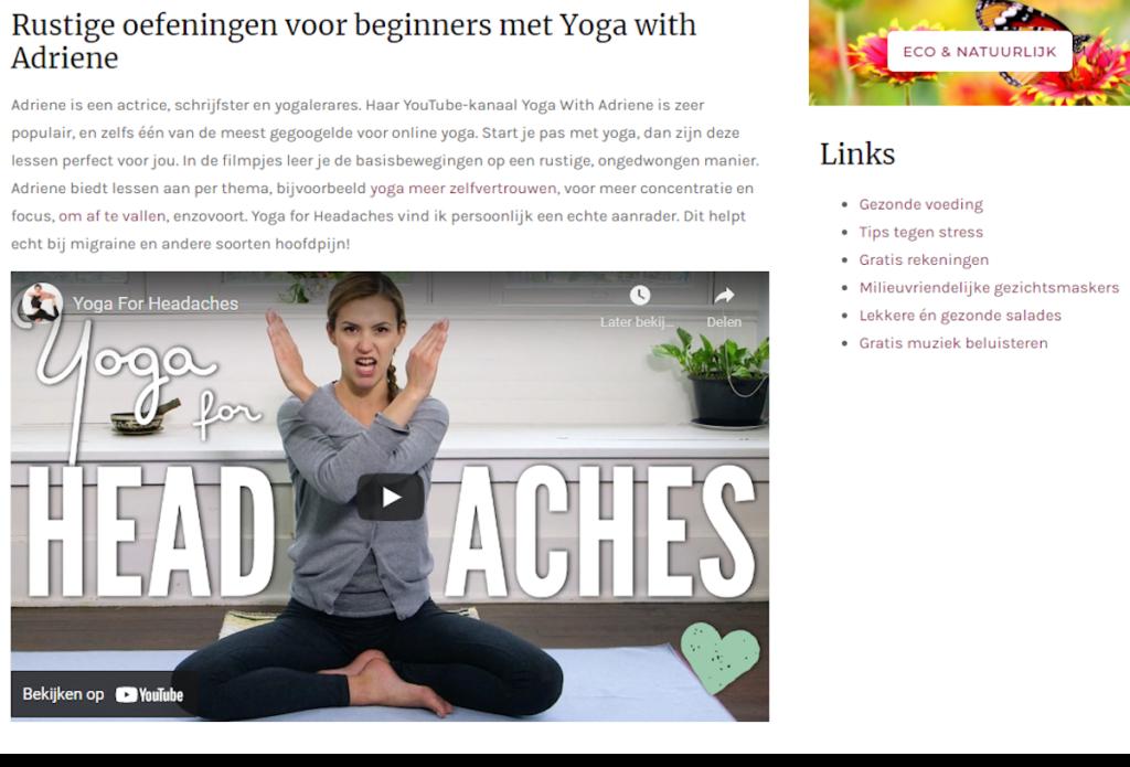 blog yoga youtube